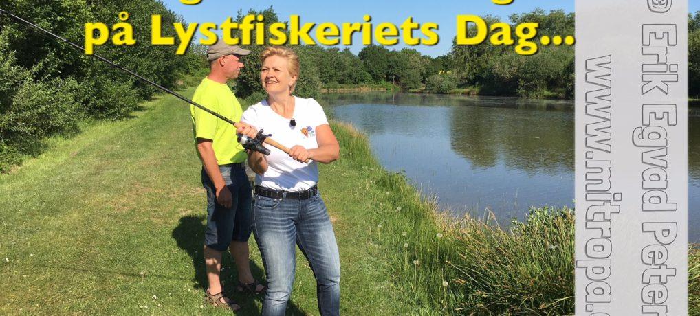 Lystfiskeriets Dag: Fiskeriminister Eva Kjer Hansen svingede fiskestangen i Haderslev